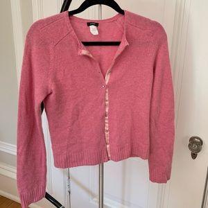 Pink cashmere/wool sweater J. Crew